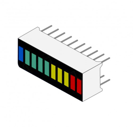10 seagment bar graph led 001