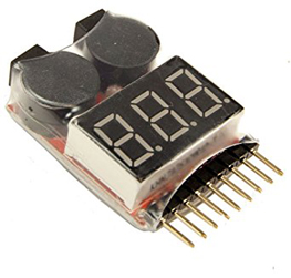 Lipo Battery Low Voltage Tester 1S-8S Buzzer