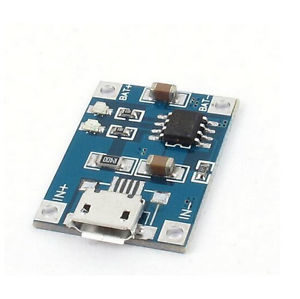 TP4056 Micro USB 1A 18650 Lithium Battery Charger Module
