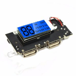 5V 1A 2.1A Mobile Power Bank PCB 18650 Battery Charger Module with LCD