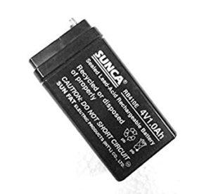4V 1Ah rechargeable Battery  SUNCA Lead Acid Battery