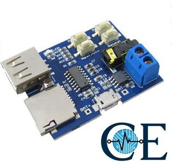 MP3 Audio Player U Disk TF Card Amplifier Decoder Board