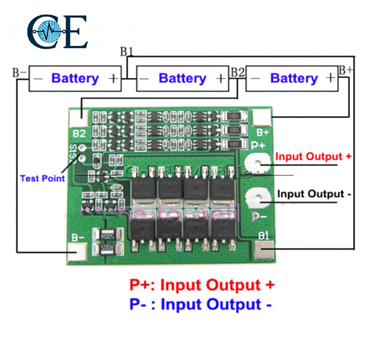 3S 40A 12.6V 18650 Lithium Battery Charger Protection Board
