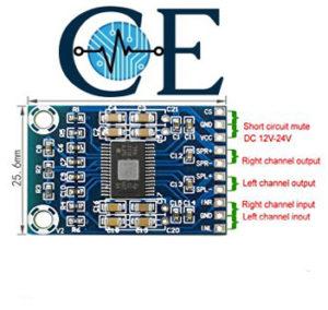 TPA3116D2 digital audio amplifier Class D  50W+ 50w