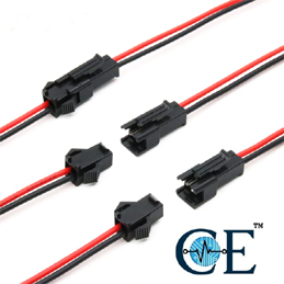 Male To Female Wire Connector 10cm Long 22AWG 2Pins