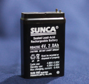 4V 2.0Ah rechargeable Battery  SUNCA Lead Acid Battery