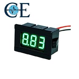 DC Voltmeter 0.0V-100V 3 wire 0.36 inch Pure Green