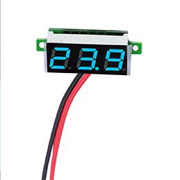 Mini Digital Voltmeter Blue 0.28 Inch DC 0-100V LED