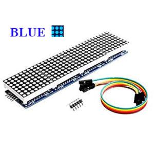 Max 7219 8×8 Blue LED Matrix  4 In 1 Display