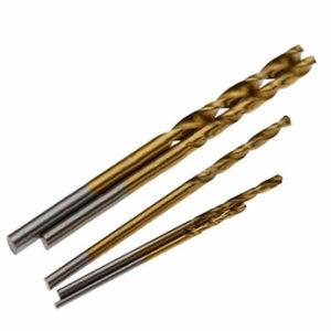 Mini Drill Bits Titanium Coated HSS High Speed Steel  Set