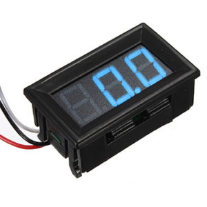 Digital DC Voltmeter 0.56inch 0-100V Three Wire Blue