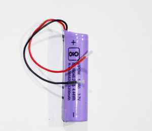 Li-Ion 18650 Rechargeable Battery 1200MAH Wired