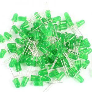 Green Led 5mm Defuse Bright Pure Green 25 pcs lot